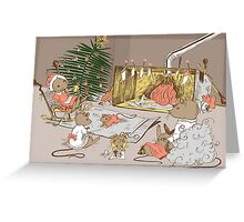 A Very Mousy Christmas Card Greeting Card