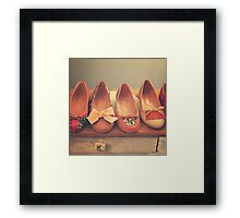 Vintage Shoes and Heels  Framed Print