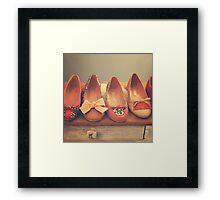 Vintage Shoes and Heels  Framed Print