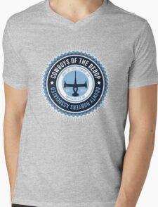 Spaces Cowboys Mens V-Neck T-Shirt
