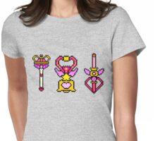 Pixel Sailor Moon Wands Womens Fitted T-Shirt