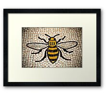 Manchester Bee Framed Print