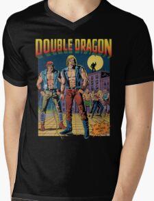 Double Dragon Mens V-Neck T-Shirt