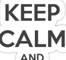 Keep Calm and Basically Run Sticker