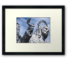 Statue. Framed Print