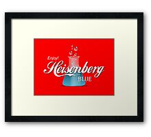 Enjoy Heisenberg Blue Framed Print