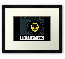 Pages From Ceefax - Weather News Framed Print