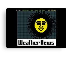 Pages From Ceefax - Weather News Canvas Print