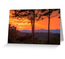 Sunset on the Blue Ridge Mountains Greeting Card