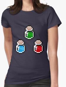 Zelda Potions V.3 Womens Fitted T-Shirt