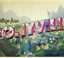Greetings from Ponyville by anjila