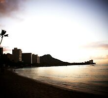 Sunrise Over Diamond Head, Waikiki Beach by Adam Kuehl