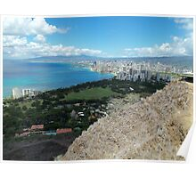 Waikiki from the Top of Diamond Head Poster