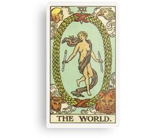 Tarot Card - The World Metal Print