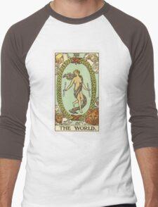 Tarot Card - The World Men's Baseball ¾ T-Shirt