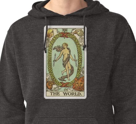 Tarot Card - The World Pullover Hoodie
