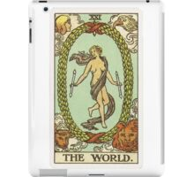 Tarot Card - The World iPad Case/Skin