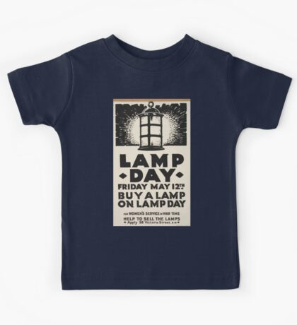 Lamp day Friday May 12th Buy a lamp on lamp day for womens service in war time 470 Kids Tee