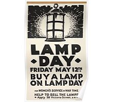 Lamp day Friday May 12th Buy a lamp on lamp day for womens service in war time 470 Poster