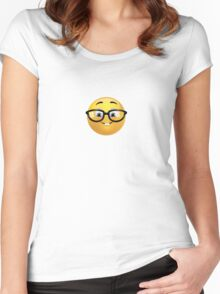 Nerd Emoji Women's Fitted Scoop T-Shirt