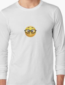Nerd Emoji Long Sleeve T-Shirt