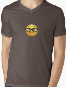 Nerd Emoji Mens V-Neck T-Shirt
