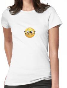 Nerd Emoji Womens Fitted T-Shirt