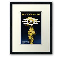 Vault-Tec Propaganda Poster - Fallout 4 Framed Print