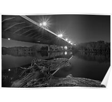 Redcliffe Bridge BW Poster