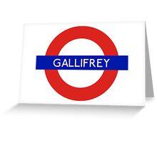 Doctor Who Gallifrey Tube Symbol Greeting Card