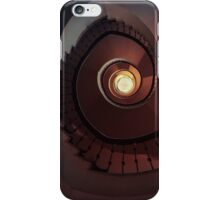 Spiral staircase in red and brown iPhone Case/Skin