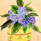 Hydrangea's  (watercolour ) by Irene  Burdell