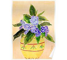 Hydrangea's  (watercolour ) Poster