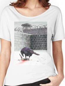Crow, Bloody Snow Women's Relaxed Fit T-Shirt