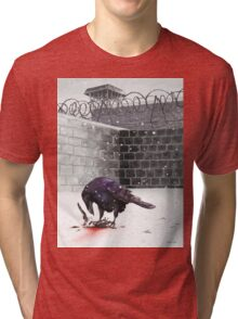 Crow, Bloody Snow Tri-blend T-Shirt