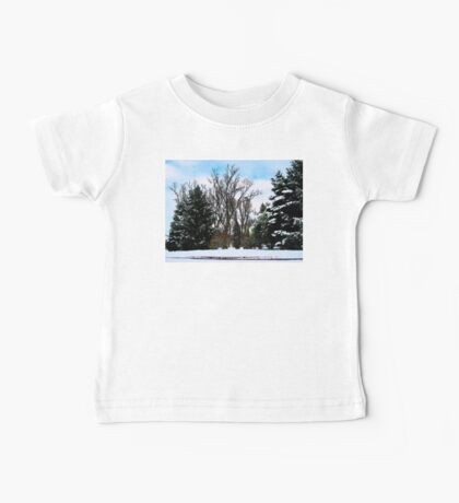Trees in Snow Baby Tee