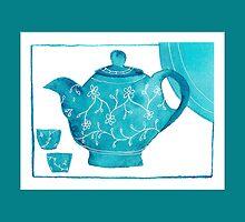 Blue Teapot  by Lynne Goodman