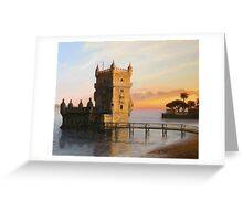 Belem Tower in Lisbon Greeting Card