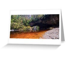 Moria Gate Archway panoramic Greeting Card