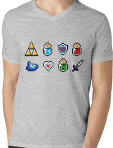 Zelda Items Mens V-Neck T-Shirt