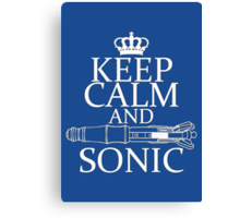 Keep Calm and Sonic Canvas Print