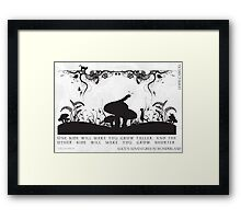 Alice's Adventures in Wonderland Black and White Illustrated Quote Framed Print