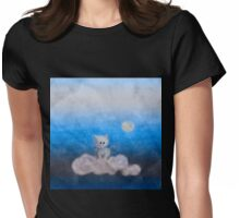 cat in the sky Womens Fitted T-Shirt