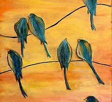 Birds On Wires by Lee Owenby