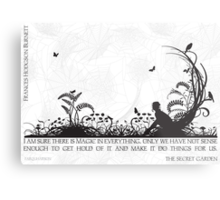 Secret Garden Black and White Illustrated Quote Metal Print