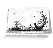 Secret Garden Black and White Illustrated Quote Greeting Card