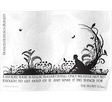 Secret Garden Black and White Illustrated Quote Poster