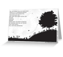 Watership Down Black and White Illustrated Quote Greeting Card
