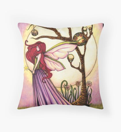 Faery Dream Tree  Throw Pillow