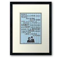 The Blues Brothers Everybody Quote Framed Print